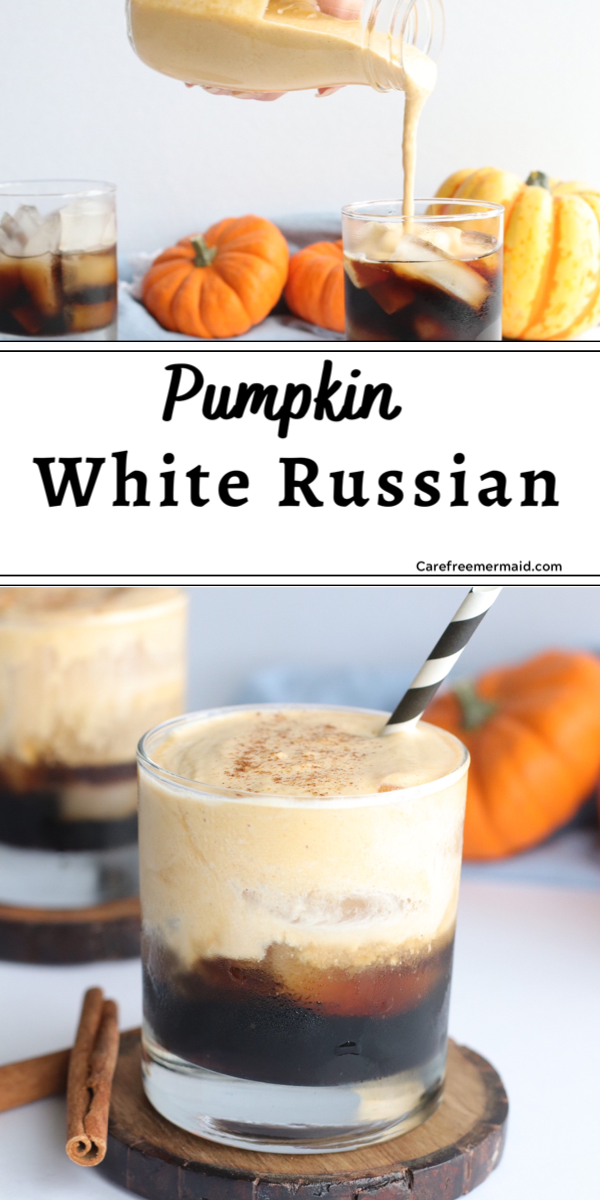 Pumpkin White Russian Cocktail